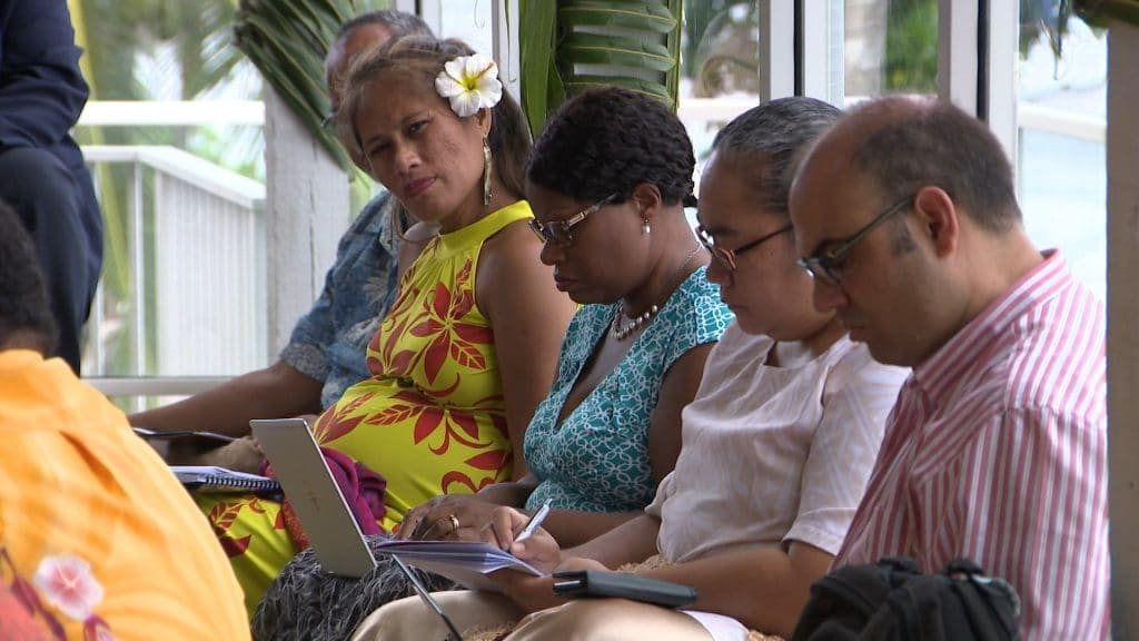 Discussions on education in the region between stakeholders are underway at a conference at Matavai.  Thirty eight participants including donor partners are attending the 25th Pacific Heads of education system meeting 2019…