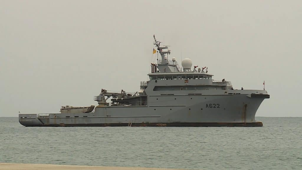 """The French Navy ship """"Bougainville"""" paid a routine visit to Niue on Saturday morning after a previous call into the Pagopago port in American Samoa.  The day visit was an opportunity…"""