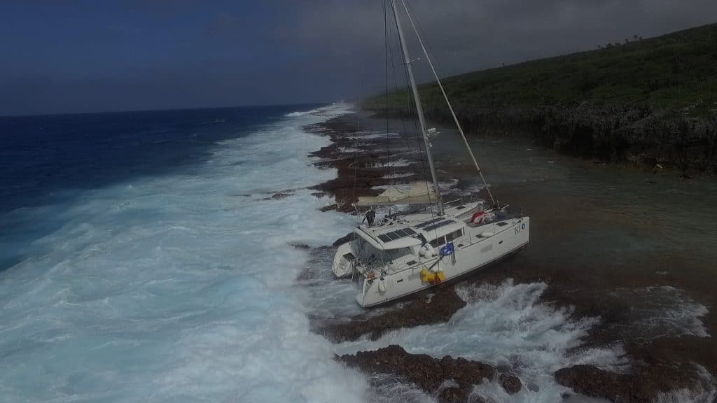 Another rescue operation is underway led by Niue Police for an Australian yacht named KI that has run aground on the east coast of the island in the early hours of this…