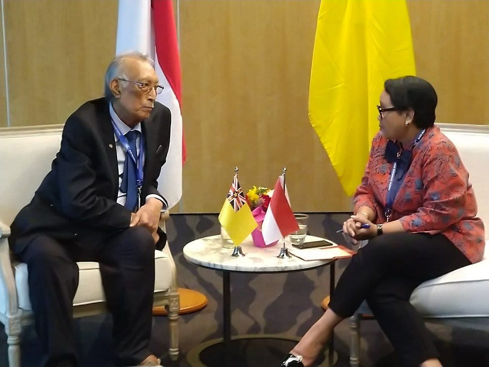 Niue is hoping for more cooperation with Indonesia in fisheries and sustainable development.   Jakarta Post reports Indonesia's Foreign Minister Retno LP Marsudi signed joint communiques stating the establishment of diplomatic relations…