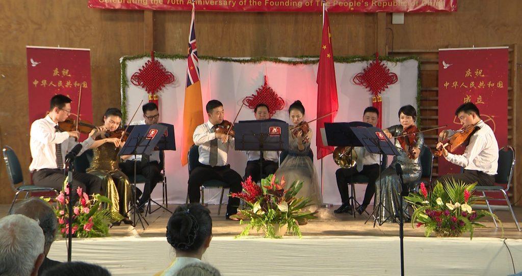 For the first time, Niue hosted a symphony orchestra.  The China National Symphony Orchestra made a special trip to perform for the Niuean people on Sunday to celebrate the 45th anniversary…