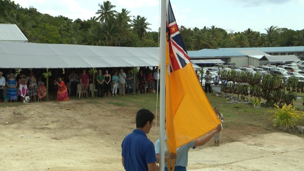 The Niue  flag will be the only flag to be raised during the flag raising ceremony  on Saturday while the Niue anthem will be the only national anthem…