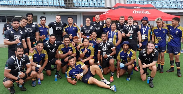 The Niue men's Sevens team lost two of their matches in the Oceania Sevens Championship.  Niue lost to the Fiji Airways Men's National 7s Team 57-0 in their first pool match…