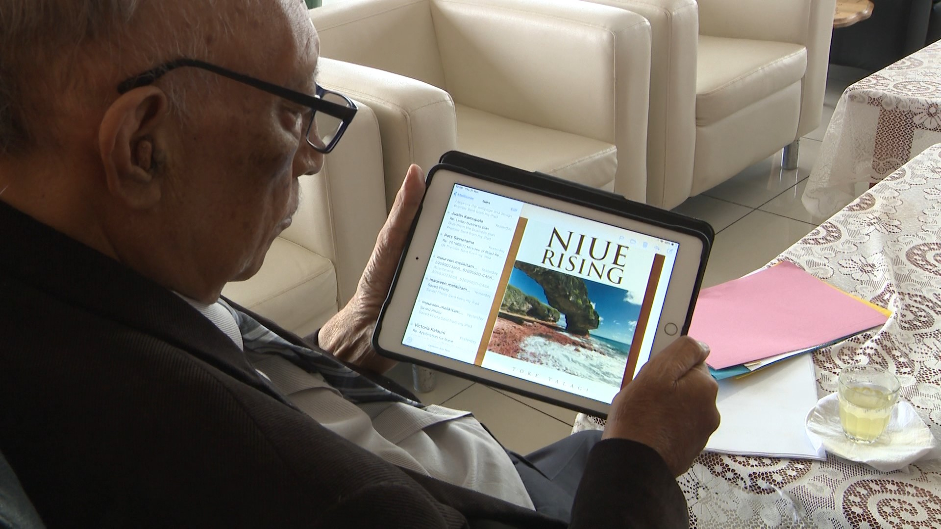 A Politician and an Author.  The Premier Sir Toke Talagi has written a book titled 'Niue Rising' which has just been published this month.  This is a biography of Sir Toke Tufukia…