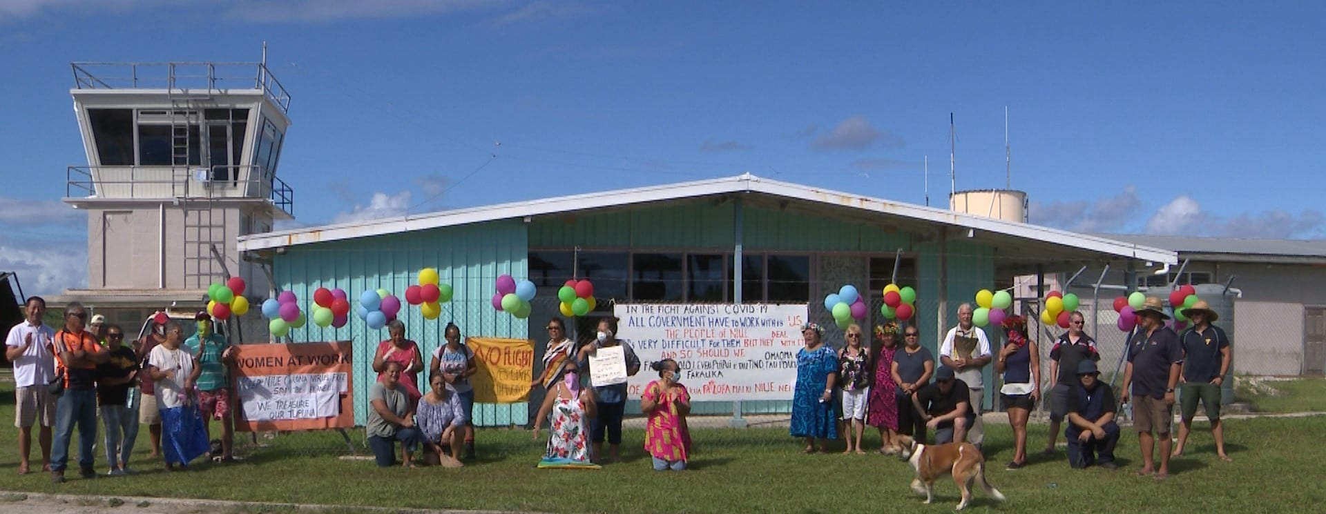 A group of concerned citizens and residents held a demonstration this morning at the Hanan international airport in regards to the Coronavirus response plan by authorities particularly over Niue's border.  This…