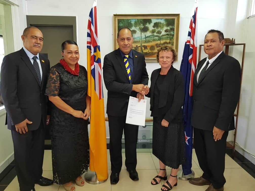 New Zealand High Commissioner Helen Tunnah has presented her letter of credentials to the Premier Dalton Tagelagi.  Tunnah completed her mandatory 14 days quarantine on Sunday July 26th and presented her…