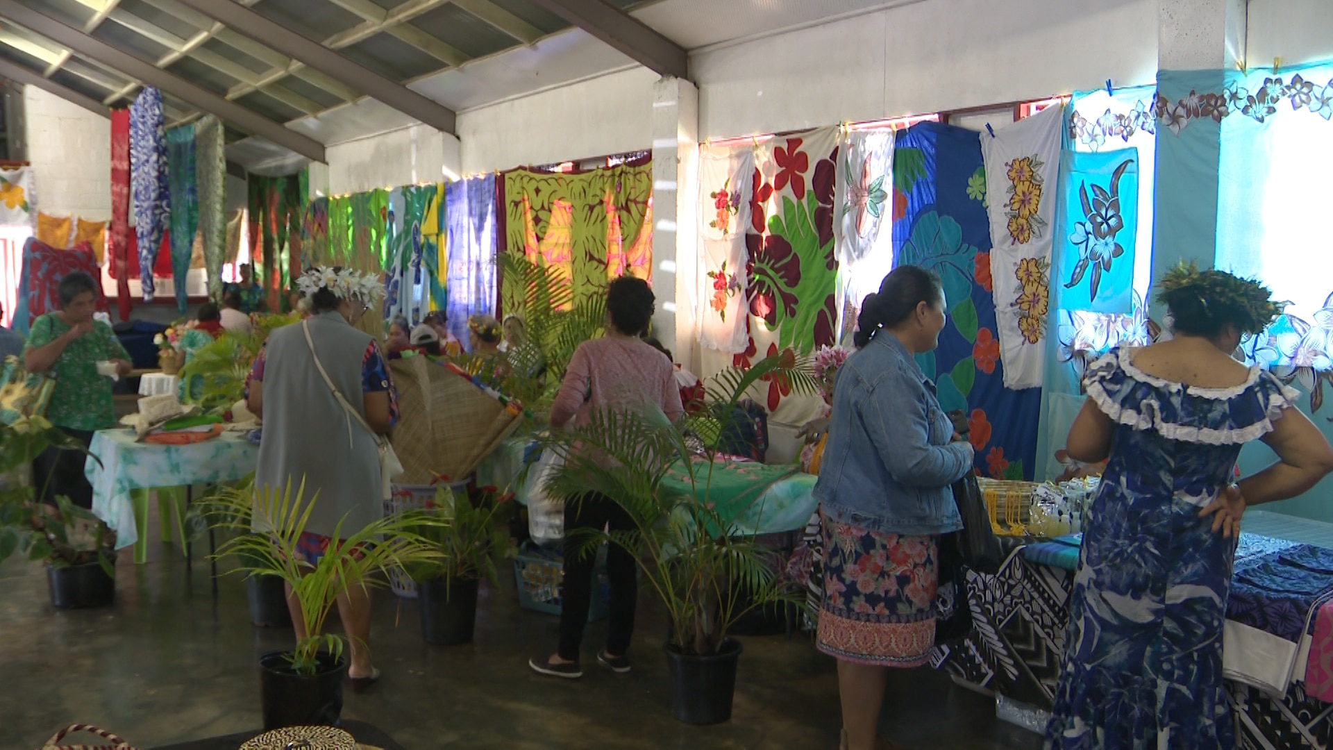 The women of Alofi North put on a fabulous and colourful exhibition of their artistic talents at the village hall last week at their annual women's show.  The hall was full…